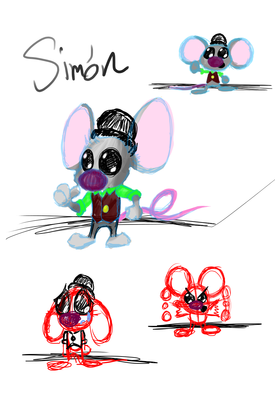 Day 1 simon le mouse